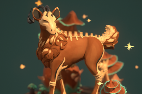 Skeleton Deer